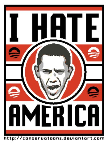 obama hates americans
