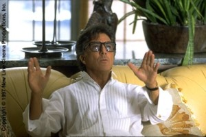 "Dustin Hoffman as Stanley Motss in ""Wag the Dog."""