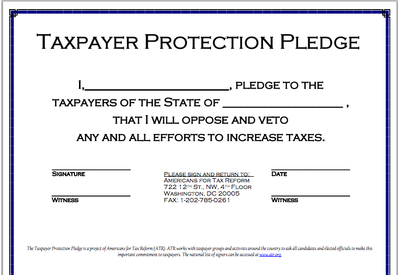 Image result for americans for tax reform pledge