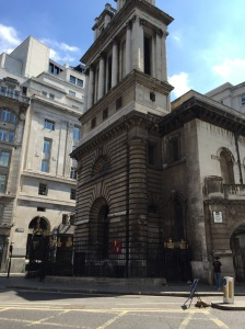 St. Mary Woolnoth church in London, where Newton spent his final years and where the former slave ship captain became a outspoken abolitionist.