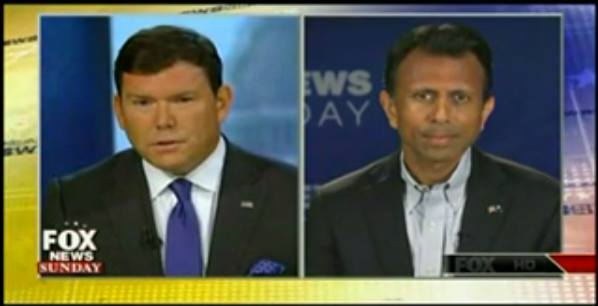 "Screenshot of Gov. Bobby Jindal on ""Fox News Sunday,"" July 12, 2015"