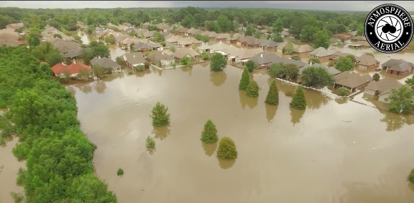 Screeenshot from WBRZ-TV drone footage. Near 1-12 and Millerville Rd. in East Baton Rouge Parish.
